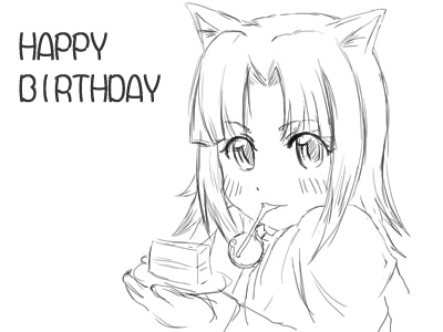 HAPPY BIRTHDAYなずな